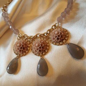 "Lia sophia, ""Blush Exotic Bloom"" flower necklace"